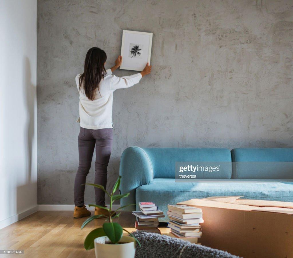 Decorating new home : Stock Photo