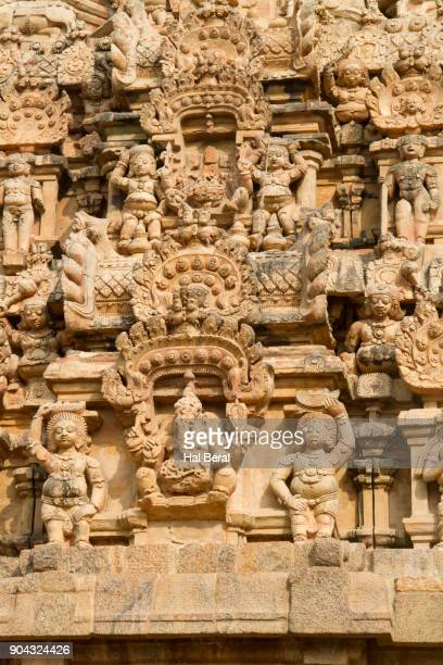 Decoration carved into the granite exterior of the Brihadishvara Temple