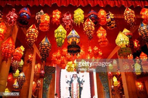 Classroom Decoration Ideas On Diwali : Decoration for diwali and kali puja celebration stock