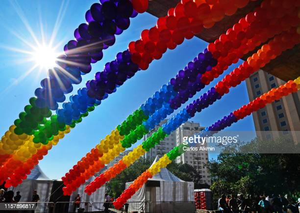 decoration for the gay pride parade or lgbtq parade - month stock pictures, royalty-free photos & images