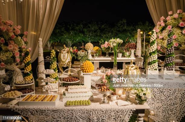 Buffet Table Decorations For Weddings  from media.gettyimages.com
