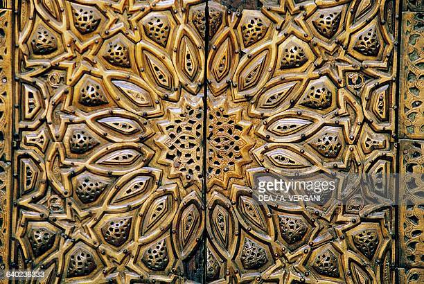 Decoration from a Sultan Hassan Mosque entrance detail Cairo Egypt