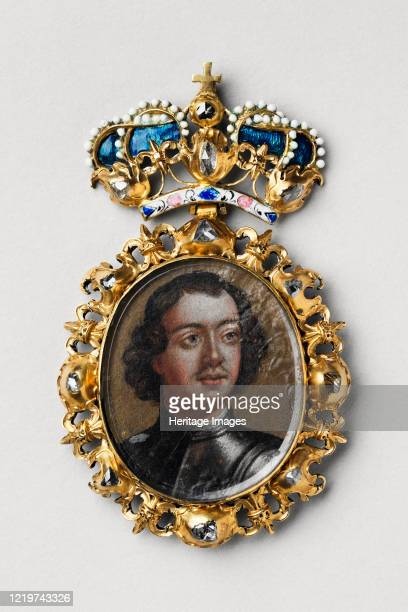 Decoration of Honour with Portrait of Emperor Peter I the Great , Early 18th cen.. Found in the Collection of State United Museum Centre in the...