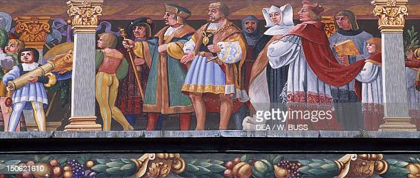 Decoration of the facade of the Old Town Hall in Lindau Detail Germany