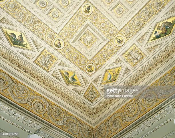 Decoration of the Hall of the Animals by Carlo Antonio Ranieri and Vittorio Ranieri 18th Century fresco