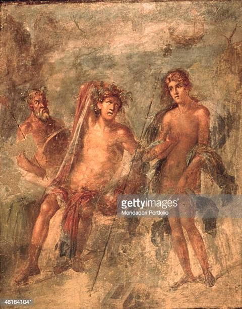 Decoration of the House of the Golden Bracelet 1st Century painting on wall Italy Campania Pompei House of the Golden Bracelet Whole artwork view...