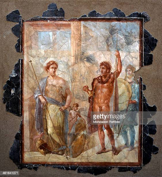 Decoration of the House of the Golden Bracelet by Unknown Artist 1st Century painting on wall Italy Campania Pompei House of the Golden Bracelet...
