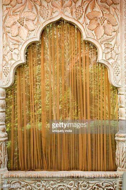 Decoration of traditional Indian wedding mandap