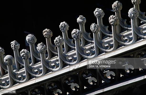 Decoration on the spiers Milan Cathedral Milan Lombardy Italy Detail