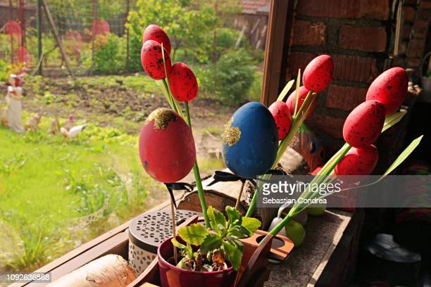 decoration prepared from easter traditional in romania, holiday - easter religious background stock pictures, royalty-free photos & images