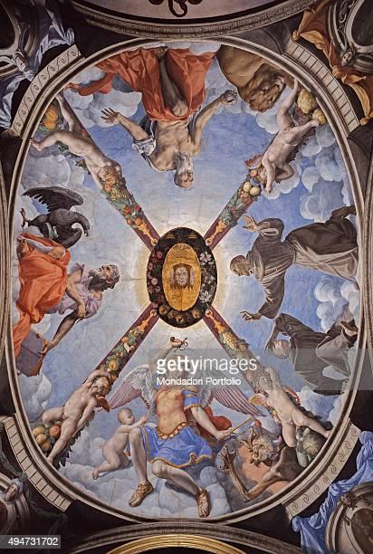 Decoration Vault of the Chapel of Eleonora by Bronzino 15401545 16th Century fresco 490 x 385 cm Italy Tuscany Florence Palazzo Vecchio Chapel of...