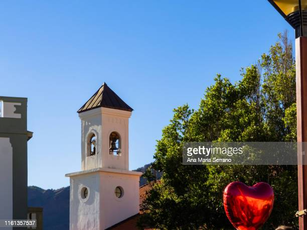 decoration with hearts and love in the village tejeda of the island of gran canaria, canary islands, spain - love island stock pictures, royalty-free photos & images