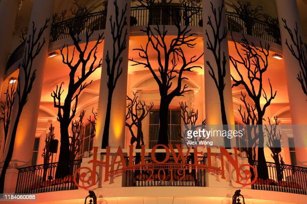 Decorations are seen during a Halloween at the White House event October 28 2019 in Washington DC