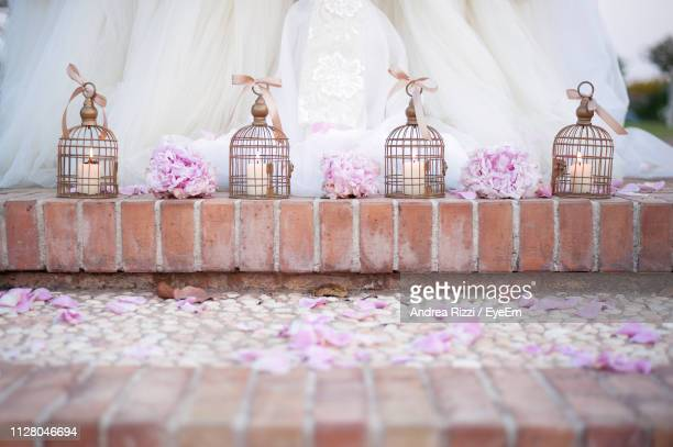 decorations during wedding - andrea rizzi stock pictures, royalty-free photos & images