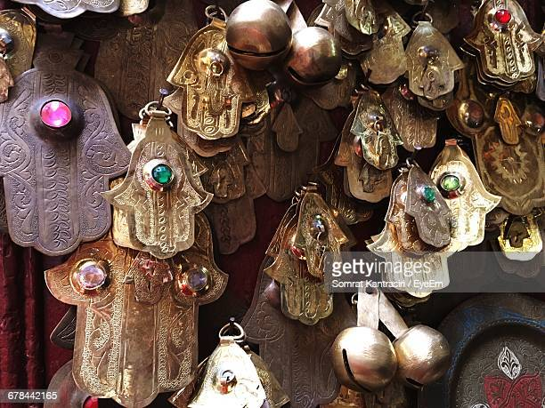 Decorations For Sale At Street Market