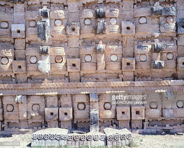 Decorations from the Temple of Codz-poop dedicated to the god of rain Chac in Kabah . Mayan Civilization, 10th Century.