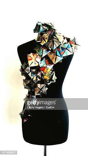 Decorations Made Of Photos Attached To Mannequin