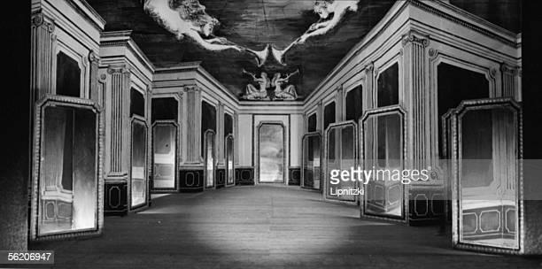Decorations of Paul Delvaux for 'A dame Miroir' Music of Darius Milhaud Ballets of Paris June 1948