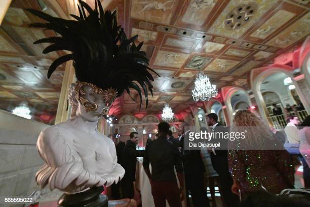 Decorations on display at HSA Masquerade Ball on October 23 2017 at The Plaza Hotel in New York City