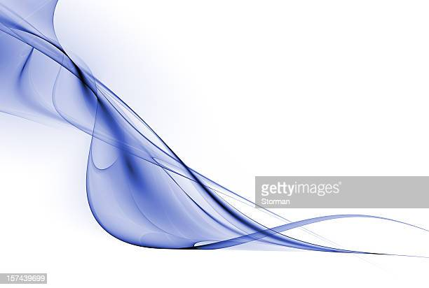 decorative abstract blue wave on a white background - veil stock pictures, royalty-free photos & images