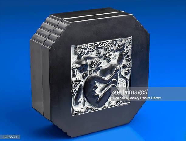 Decorative box of imitation ebony in urea formaldehyde France c1939 Octagonal box of imitation ebony urea formaldehyde by Eduard Fornells i Marco...