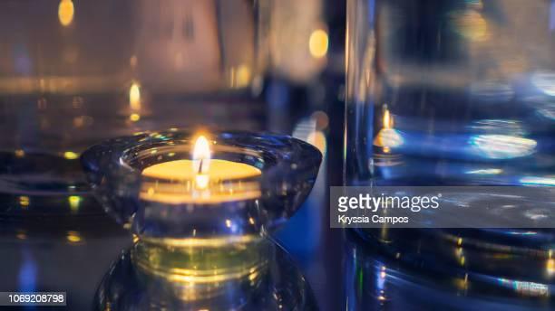 decorative candle at event celebration - 新年レセプション ストックフォトと画像