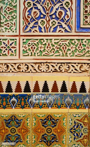 decorative carved panels, marrakesh - hugh hastings stock pictures, royalty-free photos & images