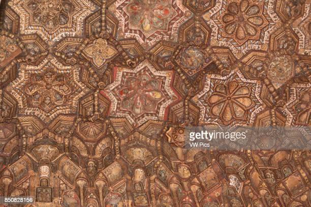 Decorative ceiling in Cappella Palatina Palazzo dei Normanni Palermo Sicily Italy