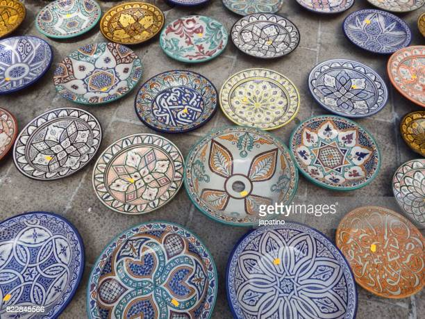 decorative ceramic crafts plates - vaso de barro imagens e fotografias de stock