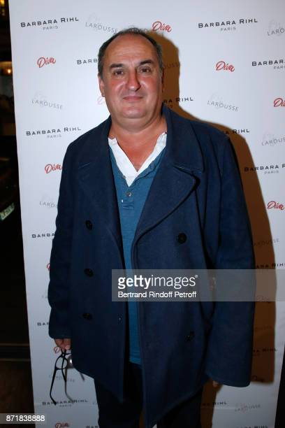 Decorative Chef Yves Fournier attends Reem Kherici signs her book 'Diva' at the Barbara Rihl Boutique on November 8 2017 in Paris France
