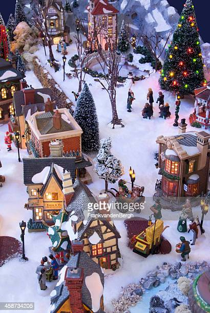 Decorative christmas village with Charles Dickens theme