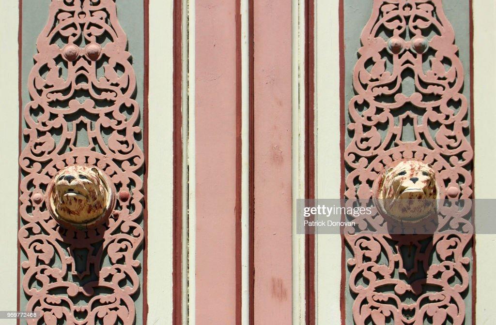 Decorative door at City Clerk's Office, Ballston Spa, New York, USA : Stock-Foto