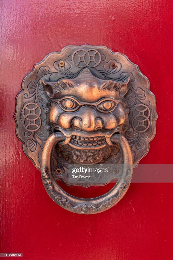 Decorative door handle. : Stock Photo