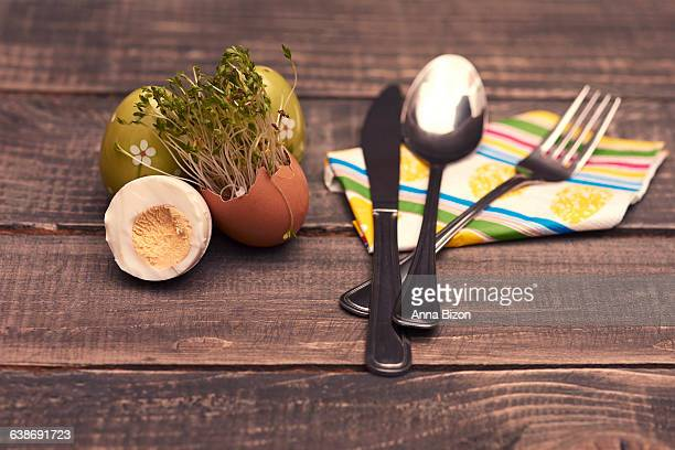 Decorative Easter breakfast. Debica, Poland