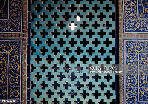 Decorative elements in the Sheikh Lotfollah mosque , 1603-1619, Isfahan . Iran, 17th century.