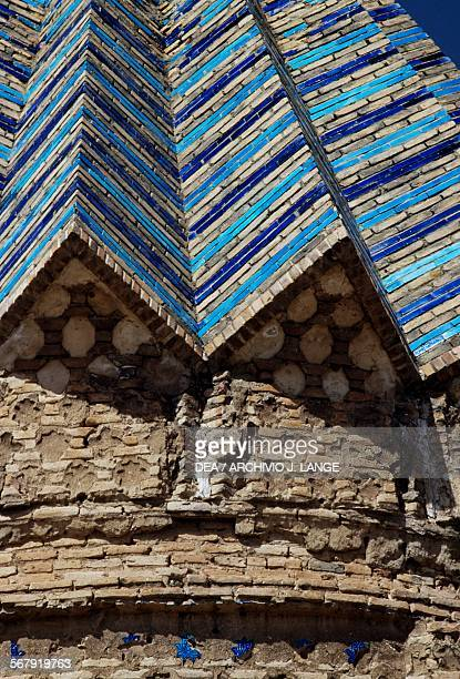 Decorative elements on the roof of the Akhangan tower near Tus Iran 15th century