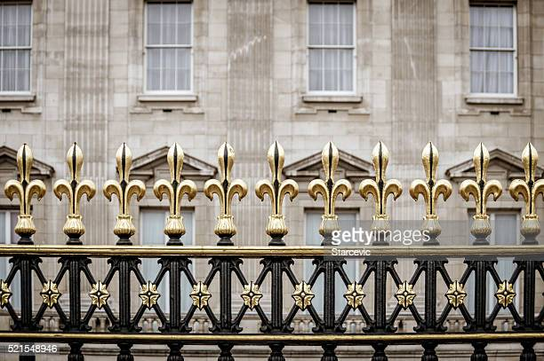 Decorative gate at Buckingham Palace in London, UK