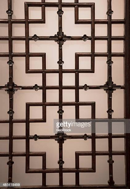 Decorative grille on a door, full frame