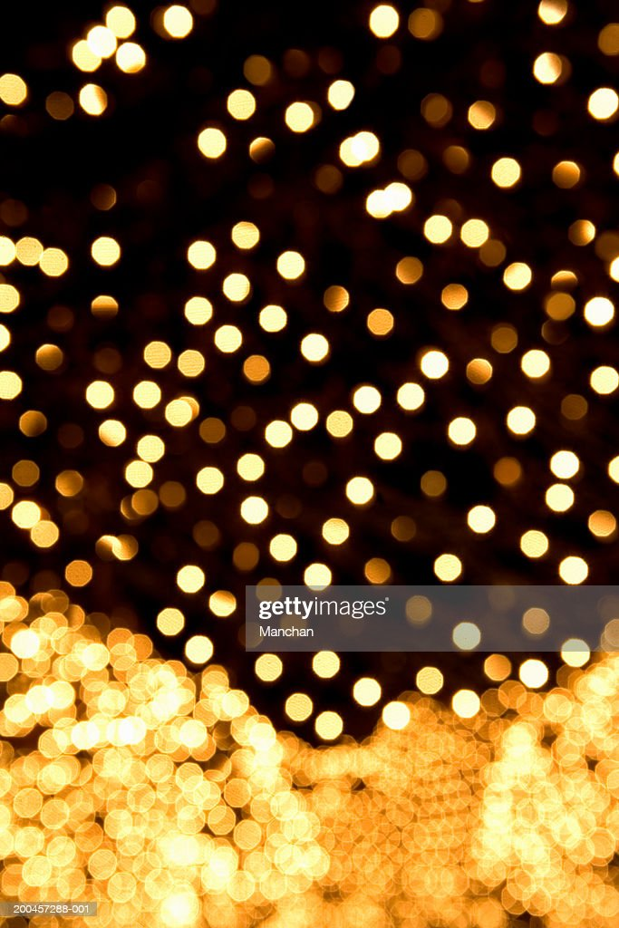 Decorative illuminated lights (defocused) : Stock Photo