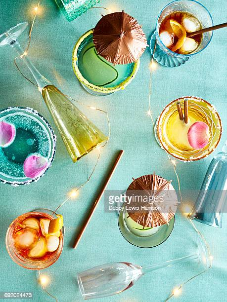 Decorative lights and party cocktails