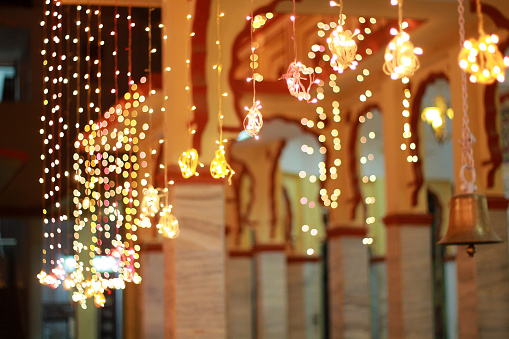 Decorative lights in a Temple 521400147