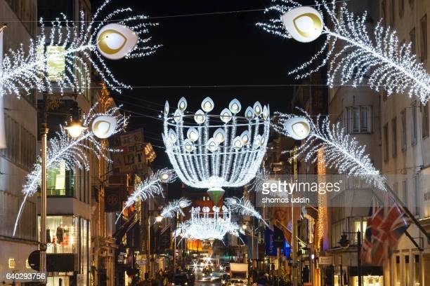 Decorative London street at night