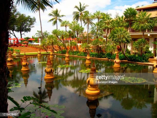 Decorative oriental pool J W Marriott Phuket Resort and Spa Thailand