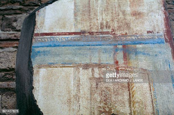 Decorative painting from the palaestra Herculaneum Campania Italy Roman civilisation 1st century BC Detail