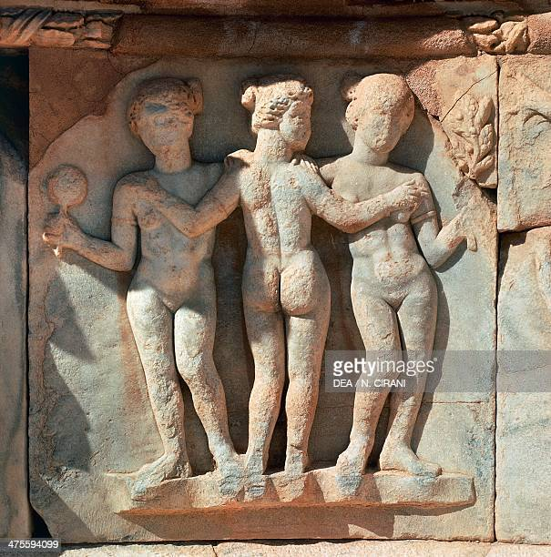 Decorative relief of the theatre Sabratha Libya Roman civilisation 3rd century