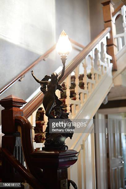A decorative stair light in Pineheath house on September 4 2013 in Harrogate England The untouched 40bedroom house belonged to wealthy Indianborn...