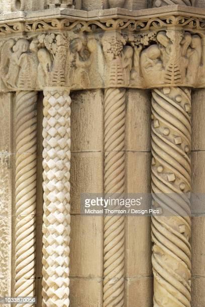 decorative stonework on entrance to iglesia or parroquia de la santisima trinidad - {{asset.href}} stock pictures, royalty-free photos & images