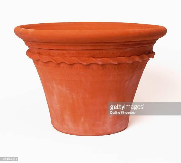 Decorative terra cotta pot