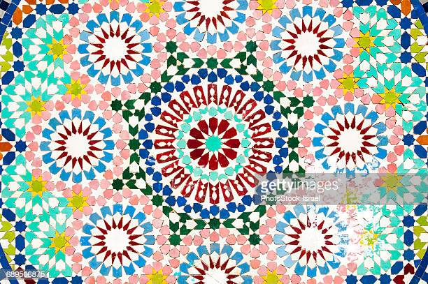 Decorative tiles on a mosque