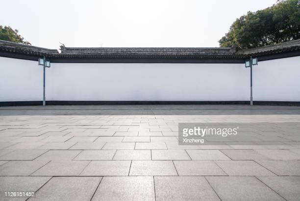 decorative wall roof tile chinese garden - suzhou stock pictures, royalty-free photos & images